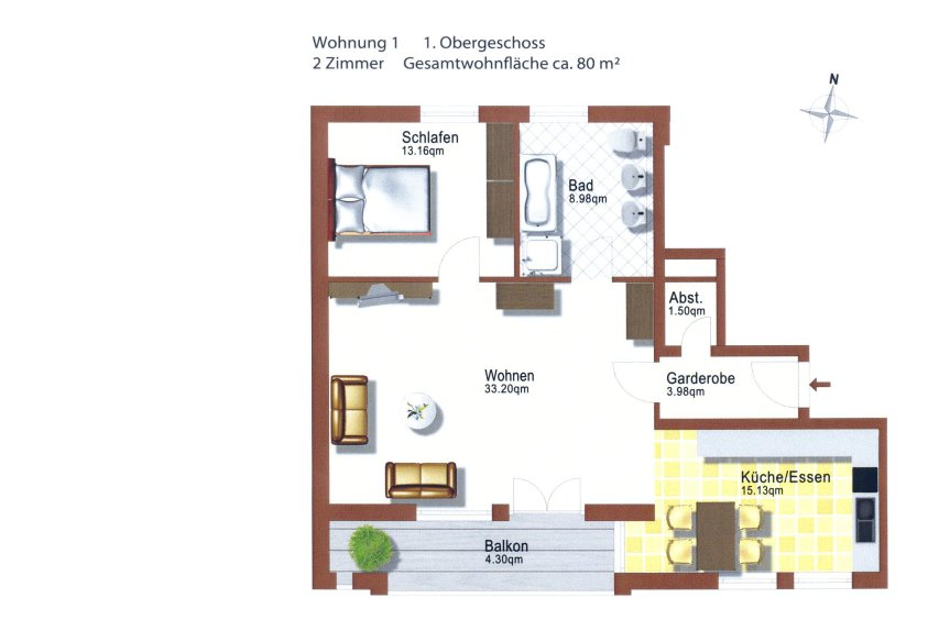 neubau wohnungen im zentrum von memmingen. Black Bedroom Furniture Sets. Home Design Ideas